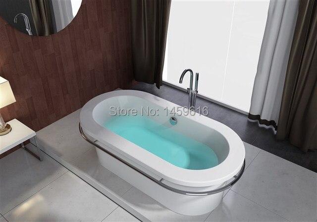 67 ovale autoportante sans soudure commune baignoire acrylique avec abs composite cupc bain de trempage