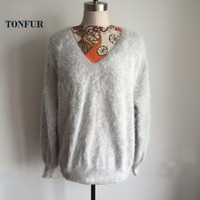 2018 New Arrival Top Quality Genuine Real Mink Cashmere Sweater Women Natural Mink Cashmere Pullovers for girls wsr340