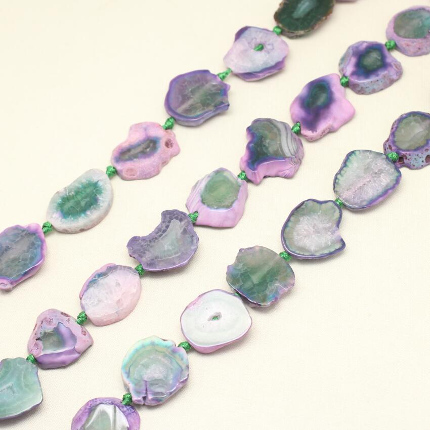 Гладкая Фиолетовый Зеленый Дракон вен купля бусины, центр driledd, 25-30 мм, природные камни плиты ломтик свободные шарики ювелирные изделия