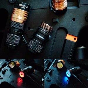 Image 5 - Manker E14 II 2200 lumenów USB akumulator 18650 latarka W/4x CREE XPG3 LED/4x Nichia 219C LED + wysoki odpływ 18650 baterii