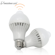 E27 Smart LED Bulbs Light 220V 110V Motion Sensor 5W 7W 9W Lamp Body Induction Auto Turn on/off with PIR Detection
