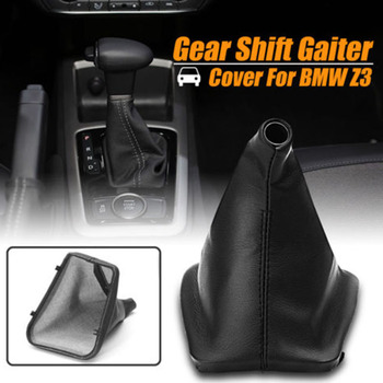 Black PU Gear Stick Shift Konb Gaiter Boot Cover For E30 E34 E36 E46 Z3 X5 image