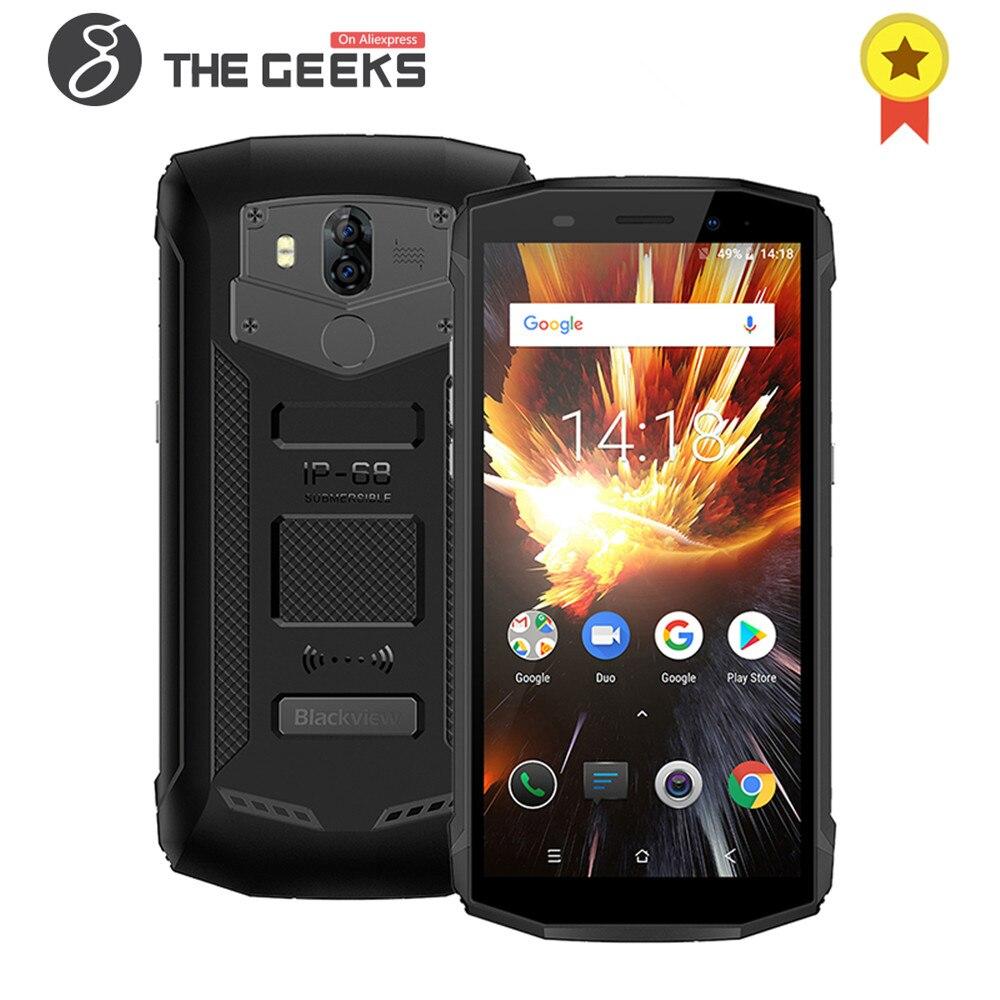 BLACKVIEW BV5800 PRO 2 GB 16 GB ROM MTK6739 Quad Core 5.5 IP68 Étanche Sans Fil Charge NFC OTG Android 8.1 4G Smartphone