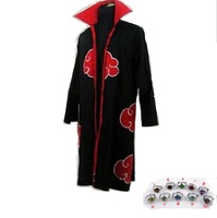 Akatsuki Naruto Itachi Uchiha cosplay costume coat ring