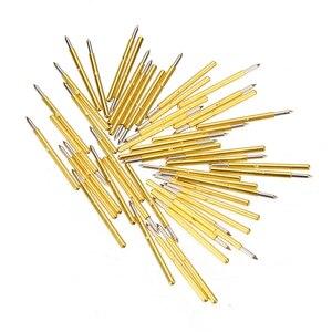 Image 5 - 50pcs Spring Pressure Test Probe Pogo Pins P75 B1 Needle Tube Dia 1.02mm Gold Thimble for Conductive Test Tools