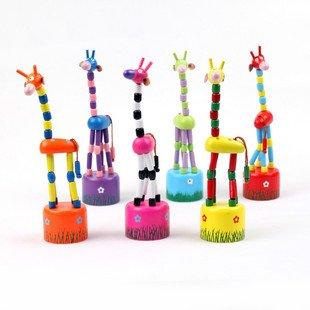 Игрушек! Красочная деревянная игрушка животное стоящий жираф игрушка для декорации дома Случайная