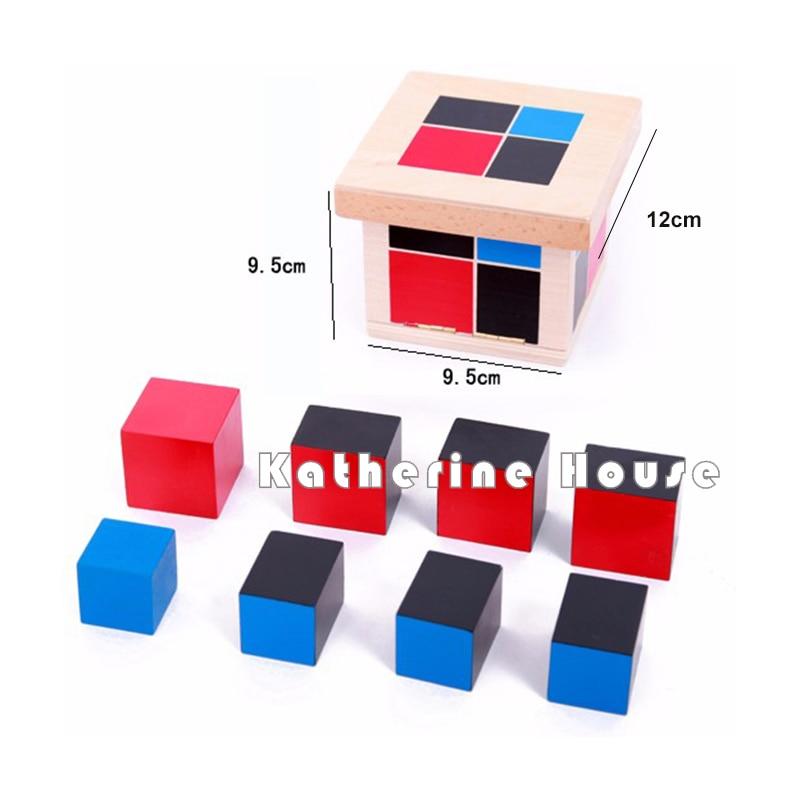 Bebé Juguete Montessori Algebraico Binomial Cubo Educación Infantil - Educación y entrenamiento - foto 4