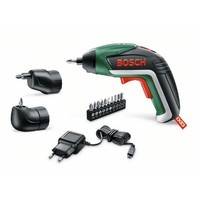 BOSCH 06039A8002 Screwdriver + Lithium Battery IXO V Set 3,6 V 1,5Ah Light focus and diffuse light 4,5Nm + Set 10 tips chargeur