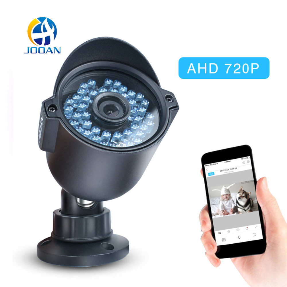 JOOAN 404ARA 720P Security Camera CMOS Sensor 42 IR-Leds 3.6mm Lens Waterproof Outdoor Bullet CCTV Video Surveillance Camera jooan waterproof 1 4 cmos hd bullet security cctv camera w 36 ir led silvery white pal secam