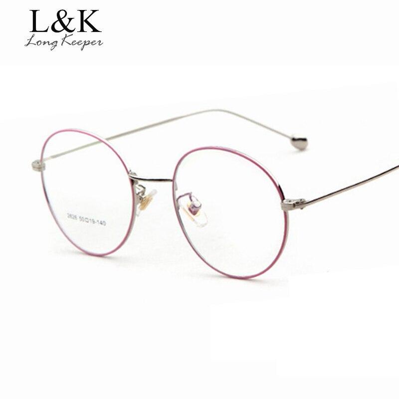 Lange Keeper Mode Frauen Männer Runde Brille Rahmen Marke Designer ...