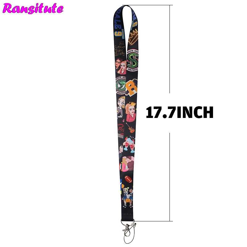 R194 TV drama RIVERDALE key ID card gym mobile phone strap USB badge holder DIY mobile phone lanyard