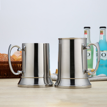 Tankard Stein Double Wall 304 Stainless Steel Beer Mug Cocktail Breakfast Milk Mugs with Handgrip Bar Tools Drinkware 450ml