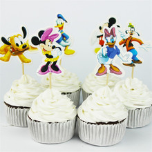 24pcs Cupcake Toppers Party Supplies for Kids Birthday Party
