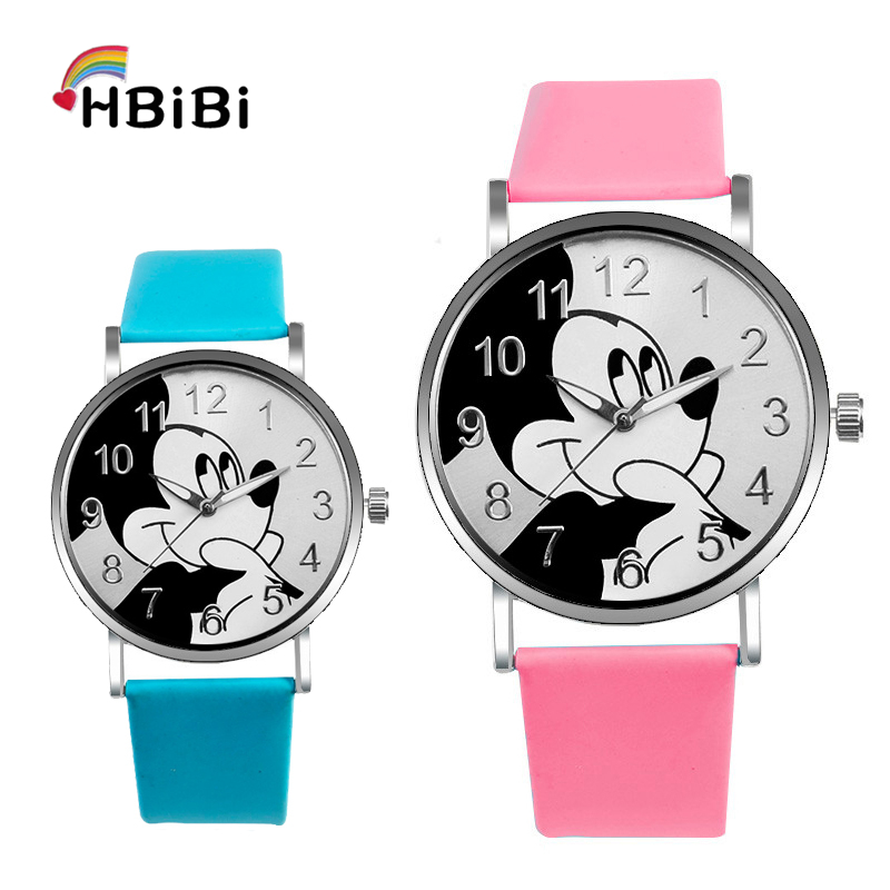 Hot Sales Lovely Mickey Children's Watches Girls Boys Gift Fashion Crystal Dress Children Quartz Wristwatches Kids Watch Clock(China)