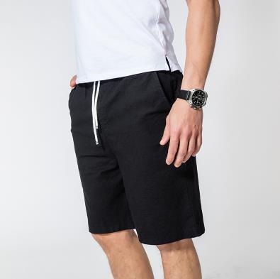 Мужские летние плюс Размеры эластичный пояс середине Повседневное Капри прямого кроя человек дышащий Лен свободные штаны Для мужчин более Размеры d обтягивающие брюки - Цвет: 2