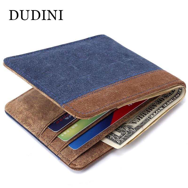 DUDINI New High Grade Men Canvas Wallet Creative Design Business Card Purse 4 Type Man Clutch Fashion Money Wallets ID Holders 2017 new retro man canvas wallets male purse fashion card holders small zipper wallet new designed multi pockets purse for male