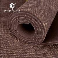 Professional Non slip 5mm Natural Linen Rubber Yoga Mat Lose Wegiht Yoga Mattress Fitness Mat Keep Fit Pad Gym Aerobics Yoga Mat