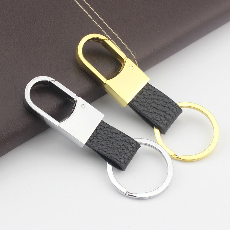 Metal Keychain Men s Leather Keychain Creative Activities Gifts Can Custom LOGO Unisex Fashion Keys Accessories Simple Jewelry