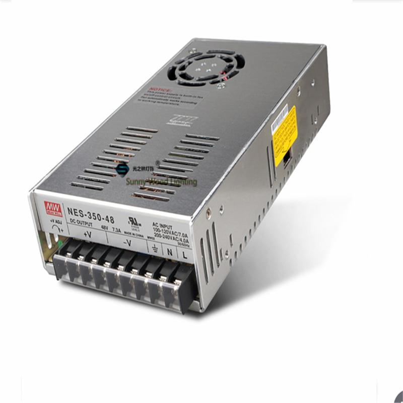 100-240Vac вход, 48VDC выход питания, 7.3A 350W драйвер, светодиодный источник питания, трансформатор CE UL NES-350-48