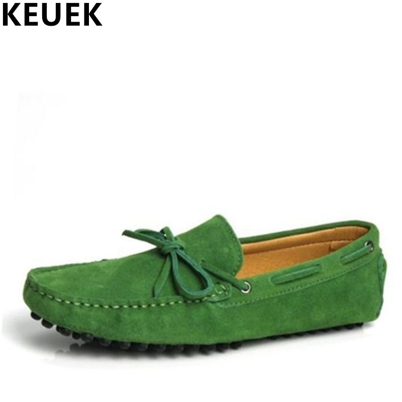 Autumn Moccasins Male Genuine leather Loafers Slip On Flats lighten end Driving shoes Men Flats Boat