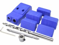 Pocket Hole Jig Kit System For Wood Working Joinery Step Drill Bit Accessories Mini Kreg Style