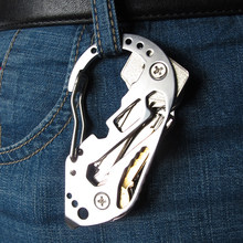 Multifunction EDC tool stainless steel Key Holder Organizer Clip Folder Keyring Keychain Case Outdoor Survival travel tool(China)