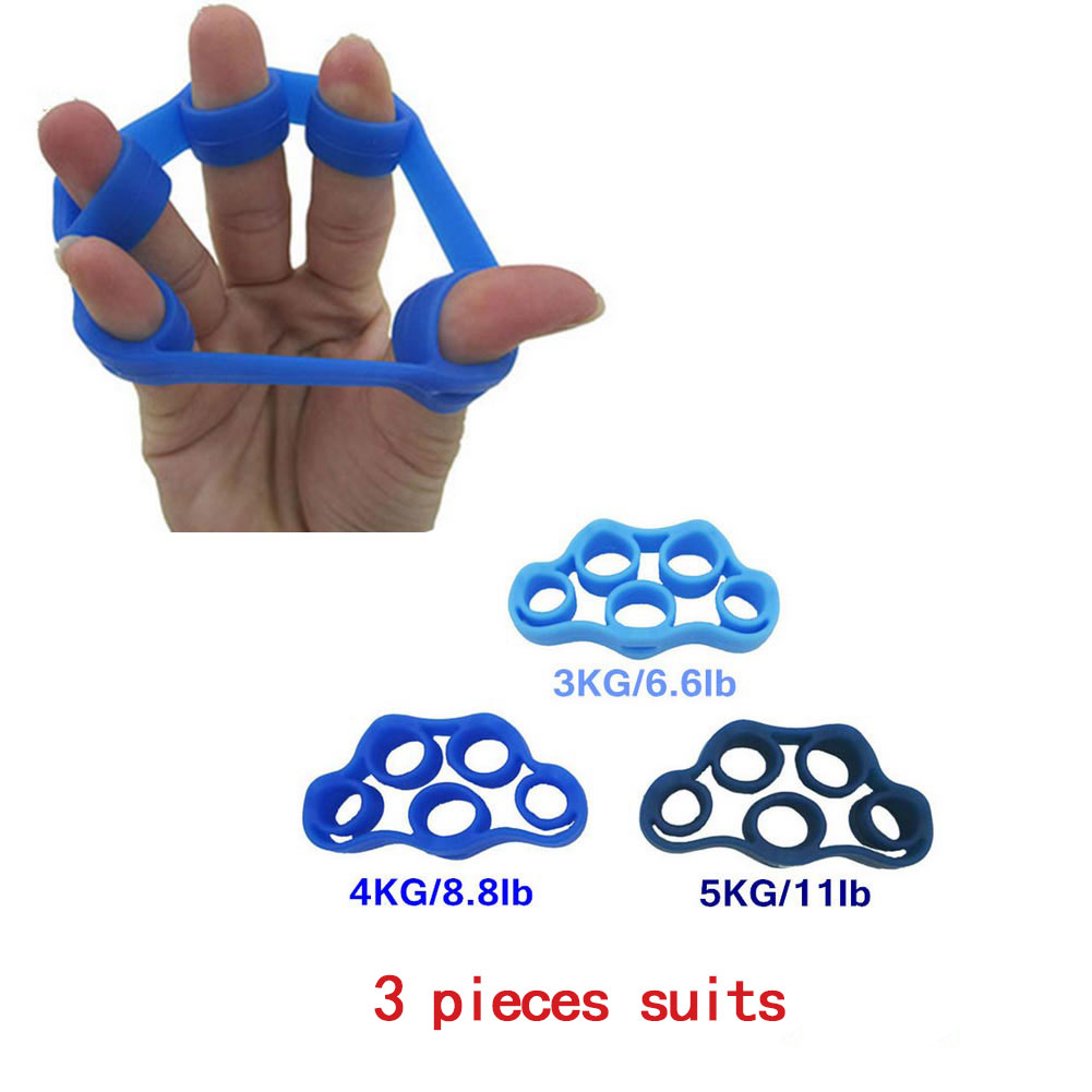 3 Pcs Finger Stretcher Strength Trainer Fingers Exercise Practice Equipments Climbing Grips Workout For Men Women sho  X