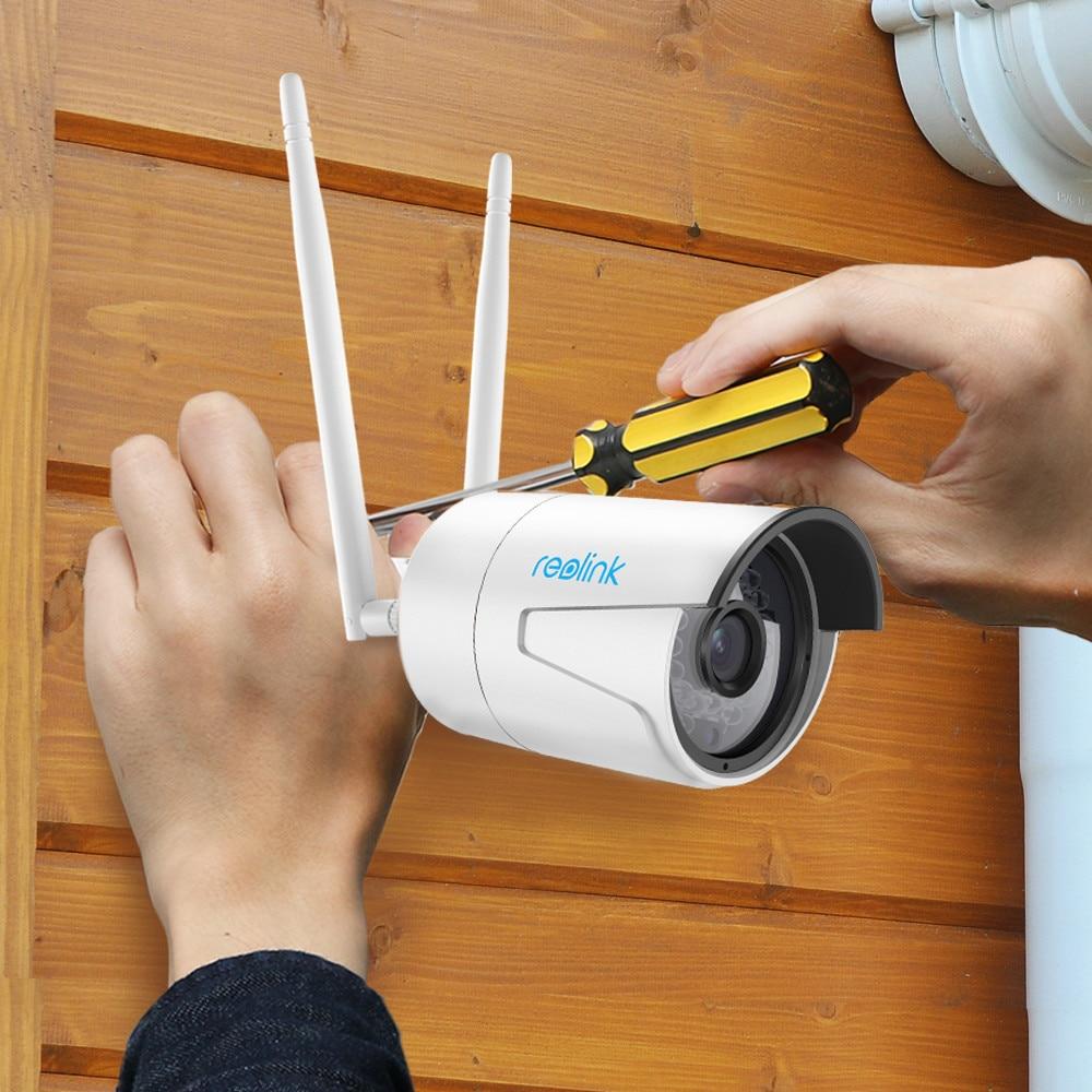 Reolink Surveillance Outdoor Camera WiFi 4MP 2.4G/5G HD IP Cam SD Card Storage Wireless Weatherproof Security Cam RLC-410WS