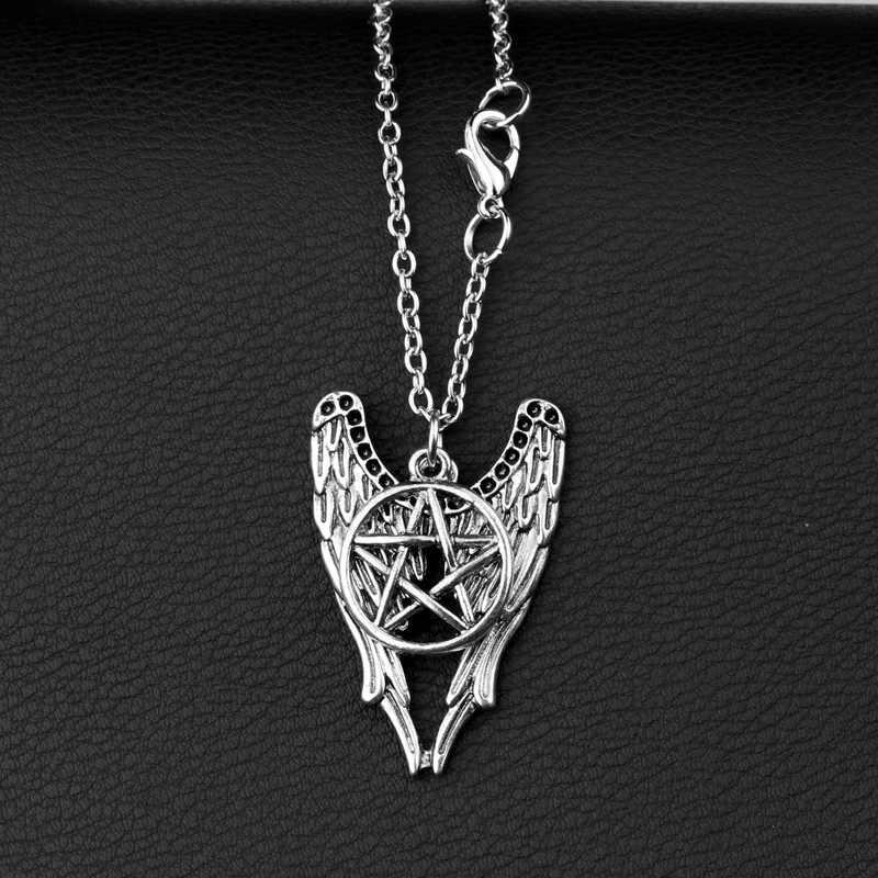 Supernatural Pentagrama Baphomet Descendente-apontando black butler Satanismo Satanás pentagrama colar colar gótico