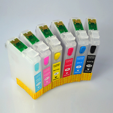 T0791 Refillable Ink Cartridges For Epson Stylus Photo 1400 PX660 P50 PX650 PX700W PX710W PX720WD PX730WD PX810FW 1410 Printer