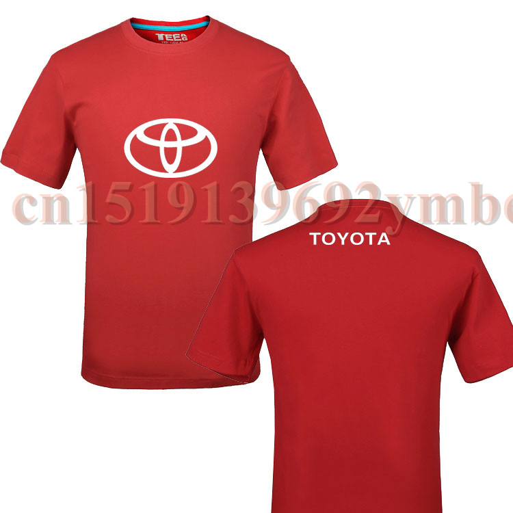 Toyota t shirt 4s shop round neck short sleeved t shirt for Custom made tee shirts