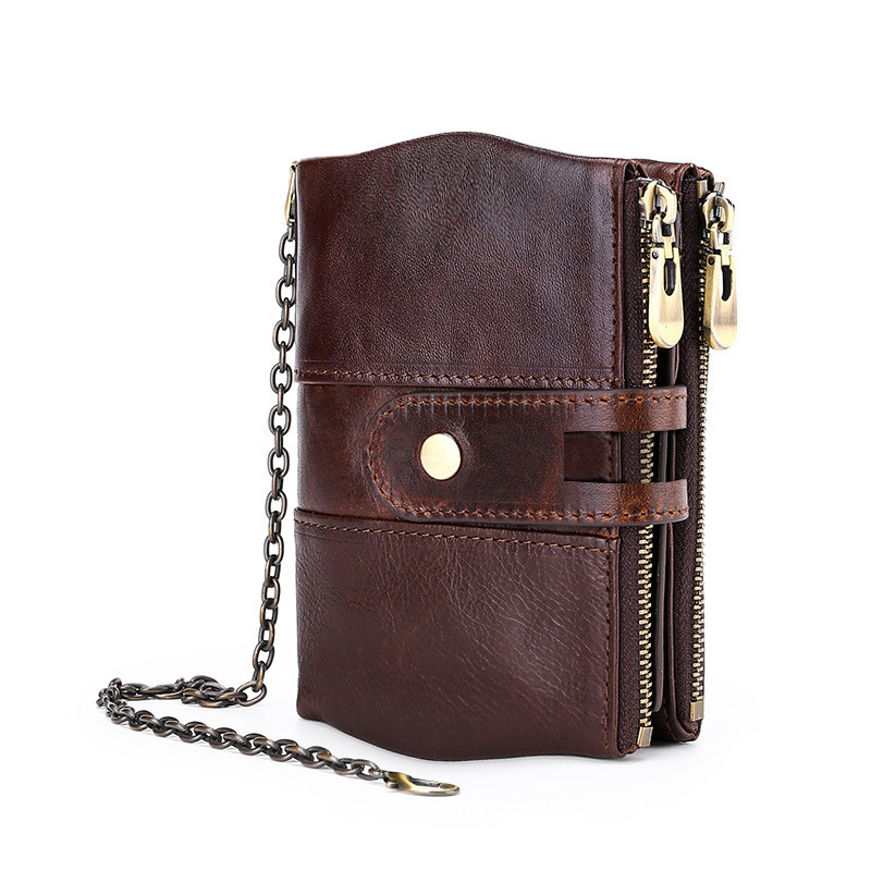 Rfid Genuine Cow Leather Wallet Men Coin Purse Male Cuzdan Portefeuille Homme Small Wallet Pocket Fashion Hasp Cartera Hombre(China)