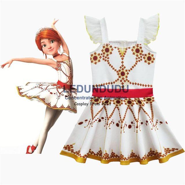 Été enfants robe imprimée rouge film ballerine Felicie Cosplay Costume enfant bébé filles robe sans manches