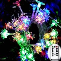 Lotus Bruiloft Bloem 6 M 60 Led Fairy Indoor/Outdoor Gebruik Party String Kerstvakantie Guirlande Verlichting