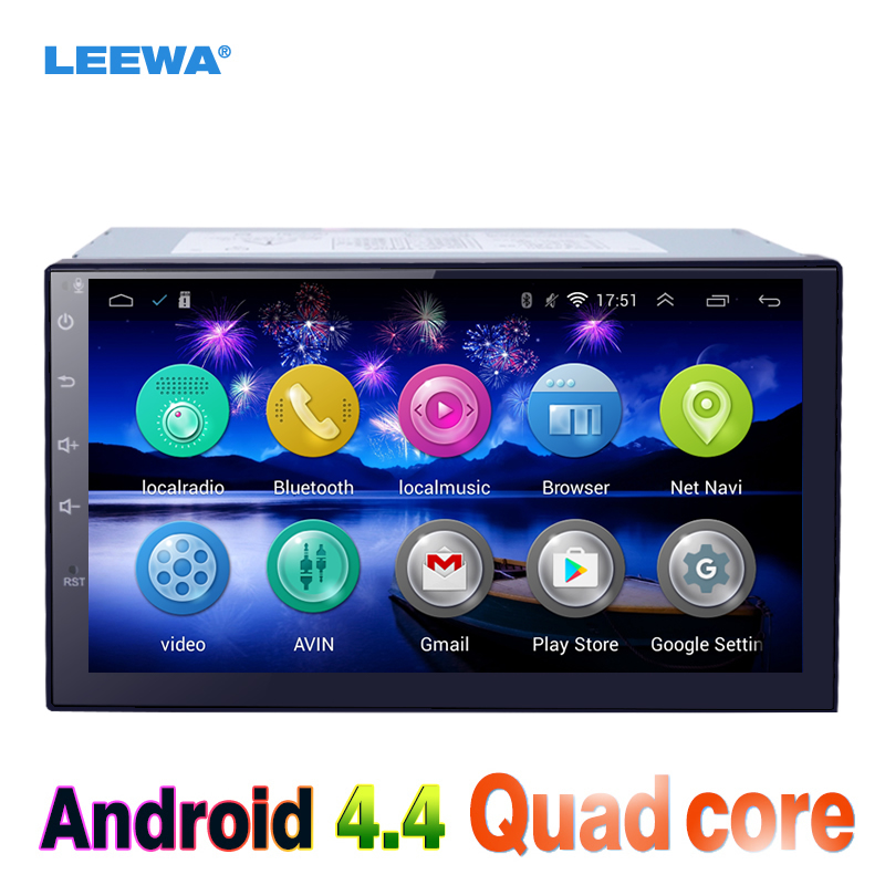LEEWA 7inch Android 4.4 Quad Core Car Media Player With GPS Navi Radio For Nissan Treeano/Versa/Micra/Murano WIFI Bluetoo #3900 feeldo 7inch android 4 4 2 quad core car media player with gps navi radio for nissan hyundai universal 2din iso gift am3900