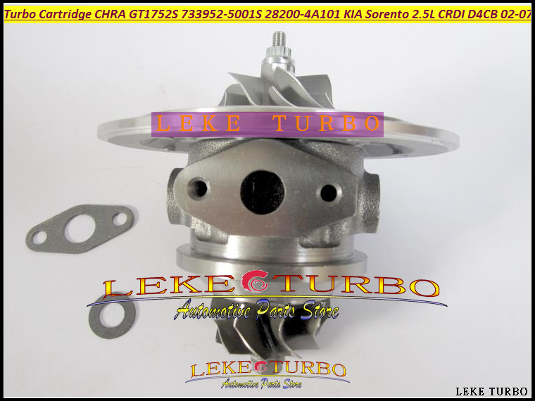 Turbo Cartridge CHRA Core GT1752S 733952 733952-5001S 733952-0001 28200-4A101 28201-4A101 For KIA Sorento D4CB 2002-07 2.5L CRDI bv43 5303 970 0144 53039880122 chra turbine cartridge 282004a470 original turbocharger rotor for kia sorento 2 5 crdi d4cb 170hp