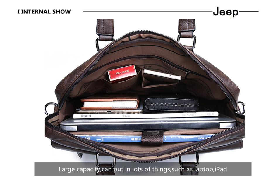 HTB1sERSXUGF3KVjSZFmq6zqPXXaO JEEP BULUO Brand Man Business Briefcase Bag Split Leather High Quality Men office Bags For 14 inch Laptop A4 File Causel Male
