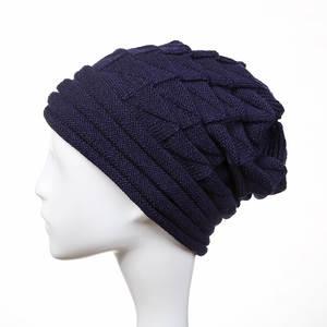 cf9bb7d9c55ac  SMOLDER Winter Beanie Knitted Hat Single Pleated Diamond Wool Cap Outdoor  for Women By Handmade