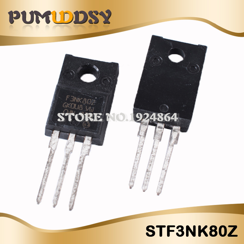 10pcs/lot Free Shipping STF3NK80Z F3NK80Z TO-220F N-channel Field Effect New Original IC