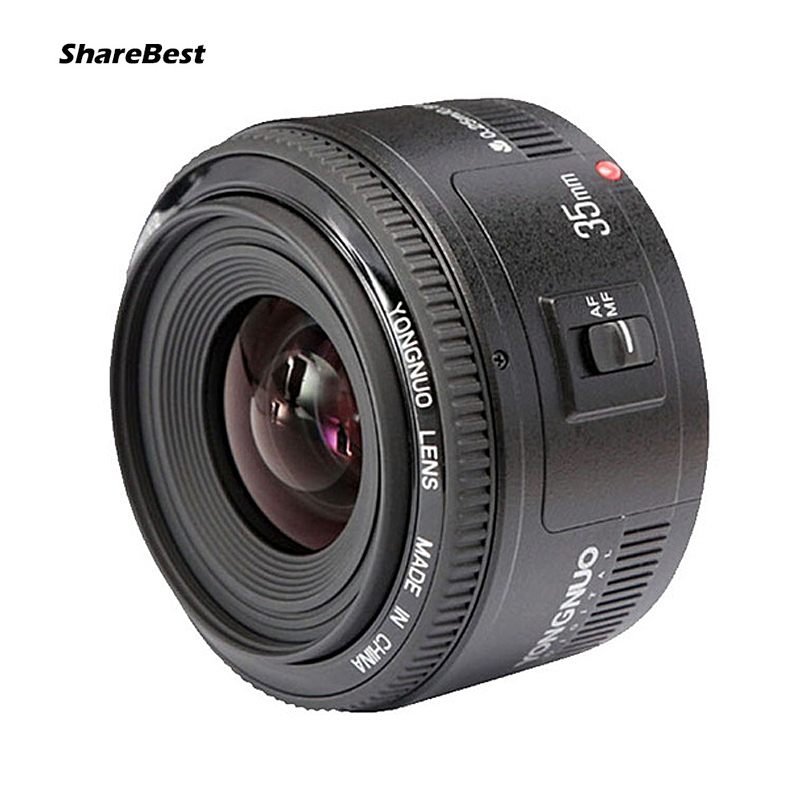 <font><b>YONGNUO</b></font> YN <font><b>35mm</b></font> Camera Lens F2 Lens 1:2 AF / MF Wide-Angle Fixed / Prime Auto Focus Lens for <font><b>Nikon</b></font> for Canon image