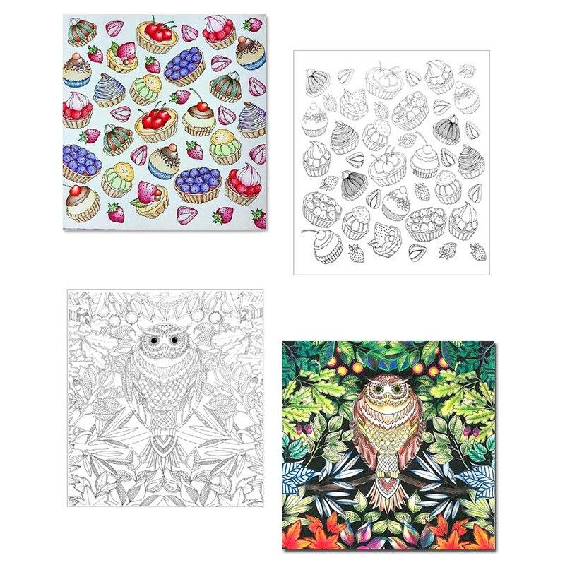 1 Unid 24 Páginas de Libros Para Colorear Mandalas Notebook Niños ...