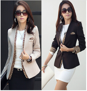 63e25cc38 2015 girls leopard blazer women s spring summer coat fashion jacket ...