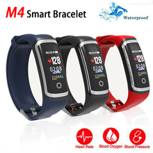 M4 Fitness Tracker Sport Smart Bracelet Bluetooth Band Waterproof IP67 Blood Pressure Sleep Monitor Wristband