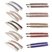 1 Pair Simple Double Drainage Drill Word Clip Adult Fashion Bangs Children Girls Headwear Hairpin Accessories