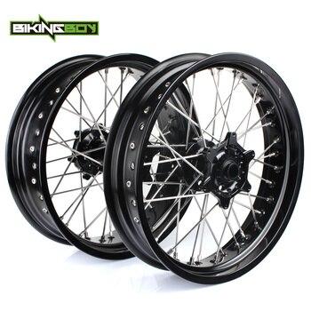 """BIKINGBOY 17"""" Front Rear Wheels Rims Hubs For KTM XC 300 450 07-09 XC-W 200 250 300 07-09 XC-F 250 505 07-09 XC-G XC-W 525 06-08"""