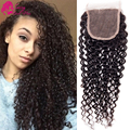 Mongolian Kinky Curly Lace Closure Virgin Afro Kinky Lace Closure Mongolian Kinky Curly Closure Free Middle Three Part 4*4