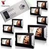 YobangSecurity 8 Units Apartment Intercom System Video Intercom Video Door Phone Kit HD Camera 7 Inch