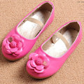 Girls Princess Shoes 2017 New Summer Toddler PU Leather Flowers Kids Party Shoes for Children Single Shoe soft soles size 21~30