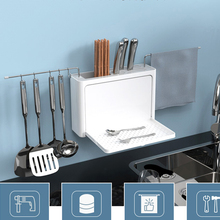 050 Multi-function Kitchen filter rack knife rack kitchenware storage rack strong sticky hook storage rack without perforation