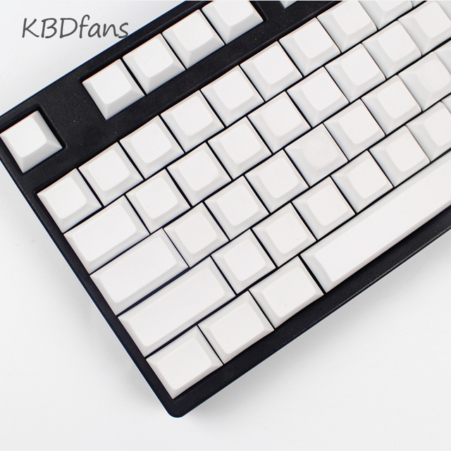 blank PBT  keycaps dsa profile for wried  mechanical gaming keyboard 104keys 87keys filco ducky gass